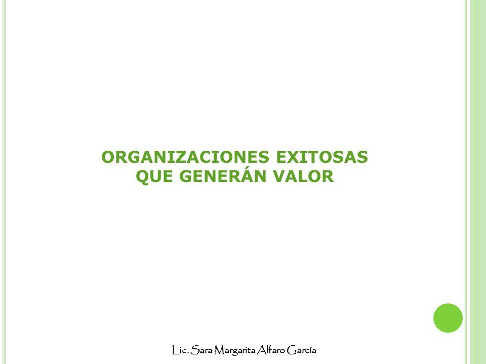 Lic. Sara Margarita Alfaro García ORGANIZACIONES EXITOSAS QUE GENERÁN VALOR