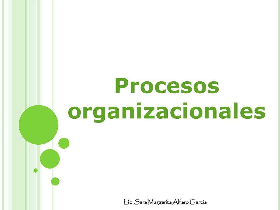 Lic. Sara Margarita Alfaro García Procesos organizacionales
