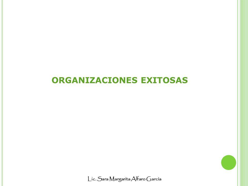 Lic. Sara Margarita Alfaro García ORGANIZACIONES EXITOSAS