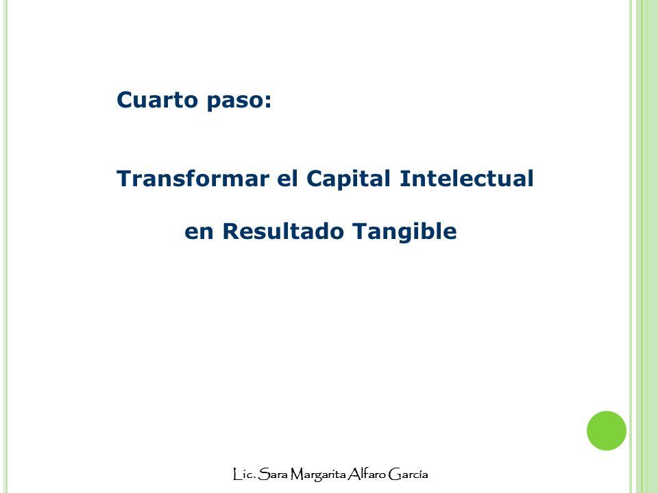 Lic. Sara Margarita Alfaro García Cuarto paso: Transformar el Capital Intelectual en Resultado Tangible