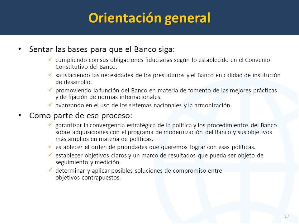 Sentar las bases para que el Banco siga: cumpliendo con sus obligaciones fiduciarias según lo establecido en el Convenio Constitutivo del Banco.