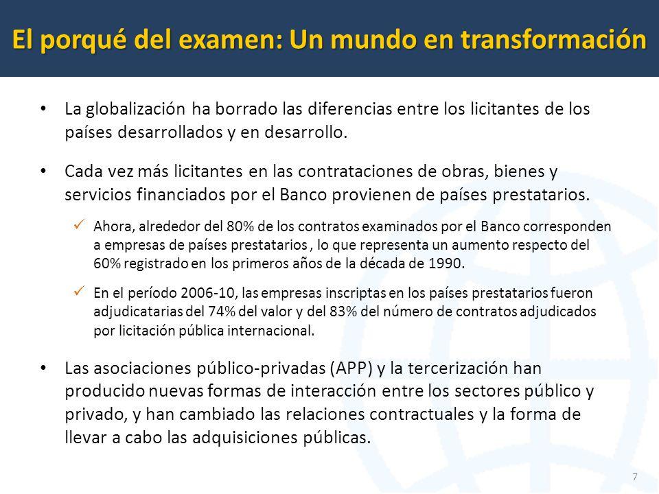 La globalización ha borrado las diferencias entre los licitantes de los países desarrollados y en desarrollo.