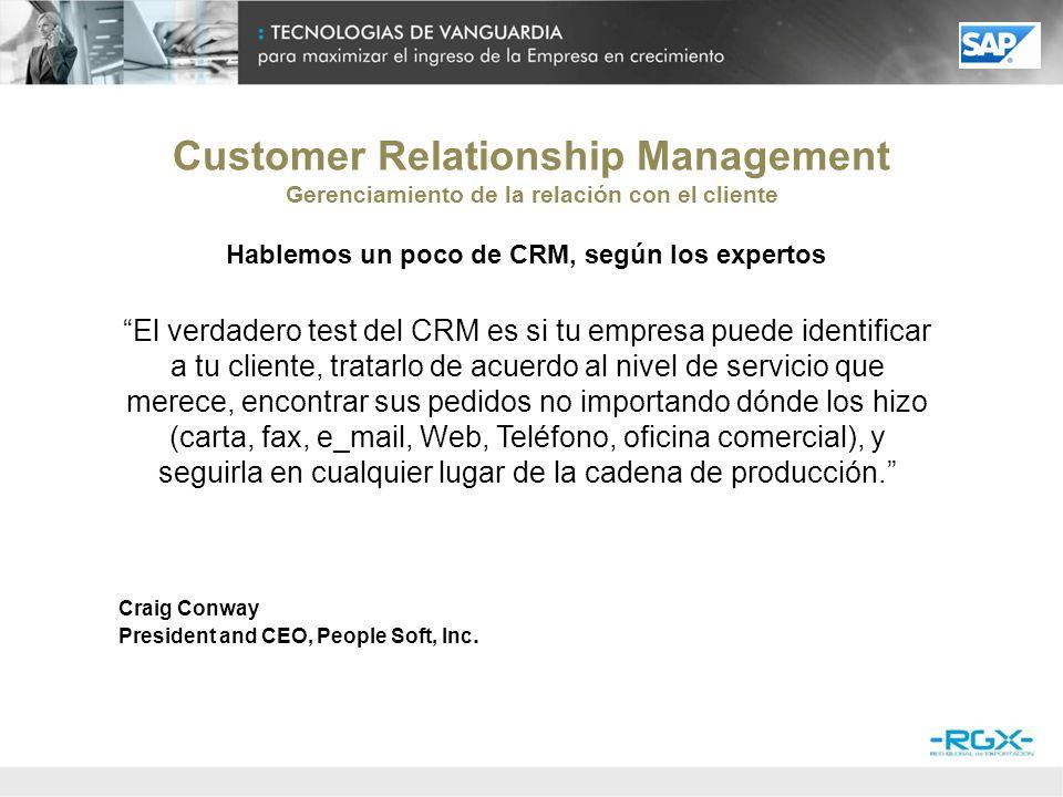 Customer Relationship Management Gerenciamiento de la relación con el cliente Hablemos un poco de CRM, según los expertos CRM se basa en la creación de una historia consistente de contactos con el cliente para que la empresa pueda entender y mejorar la consistente historia de experiencias.