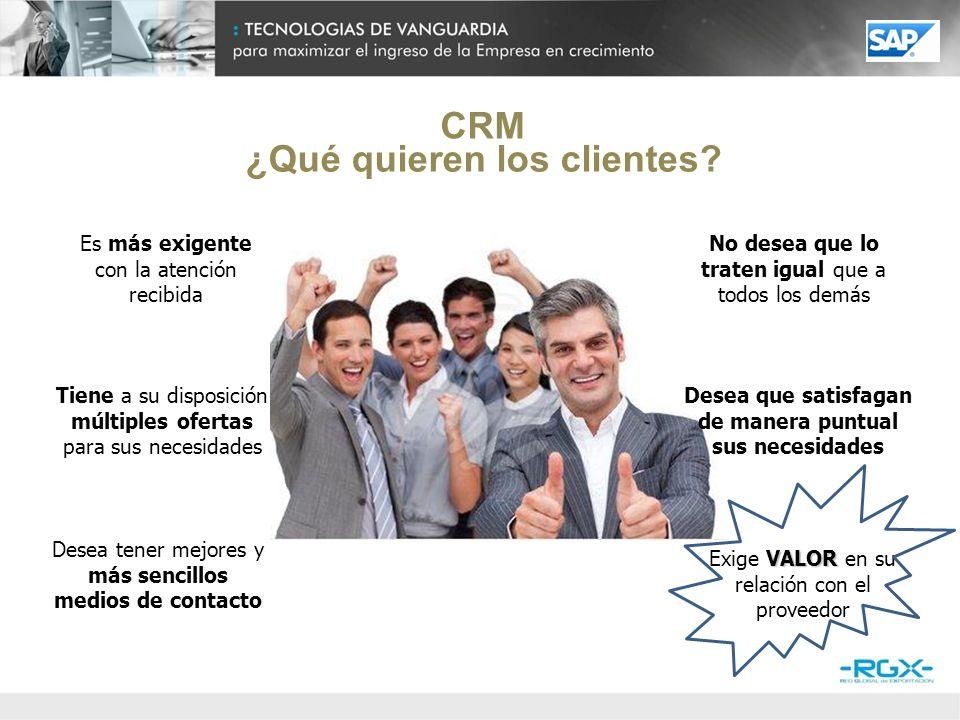 CRM ¿Cómo capitalizamos lo quieren los clientes.Conociendo a nuestros clientes.