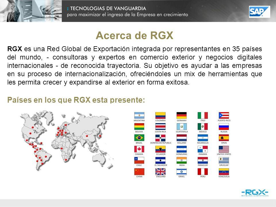 RGX, Red Global de Exportación, en asociación SAP, realizó el presente estudio de mercado sobre empresas PyMEs de Latinoamérica, con el objetivo de promover las buenas prácticas actuales respecto de dotación y uso de tecnología de la información y comunicación en PyMES exportadoras, impulsando iniciativas que fortalezcan su competitividad.