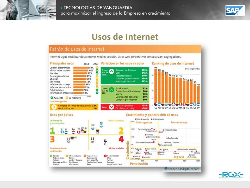 ¿Podría detallar cuáles de los siguientes dispositivos se utilizan en la empresa para acceder a Internet.