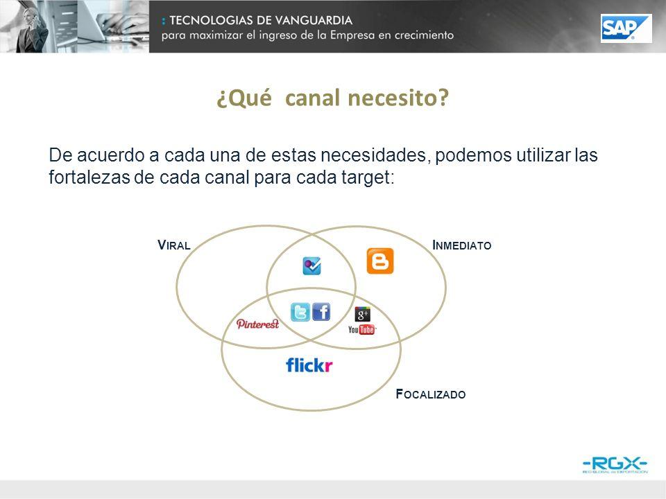 Cada canal de comunicación tiene un uso por parte del usuario sobre el cual la PyME comenzará a construir.