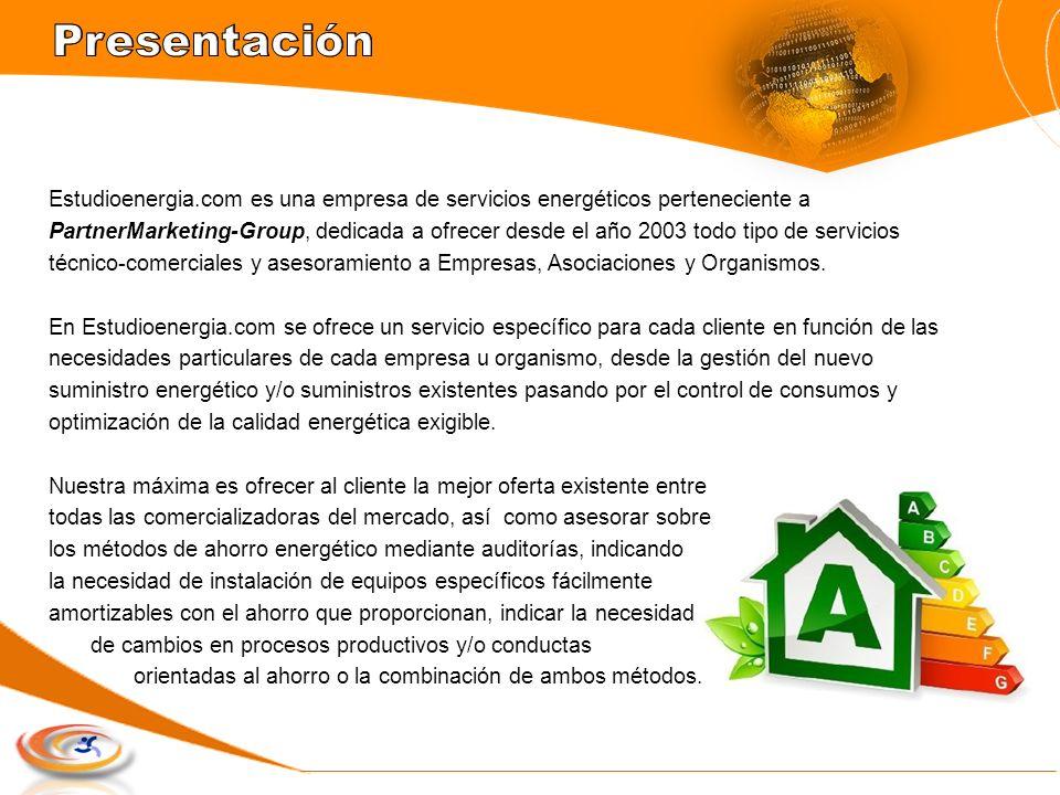 Estudioenergia.com es una empresa de servicios energéticos perteneciente a PartnerMarketing-Group, dedicada a ofrecer desde el año 2003 todo tipo de s