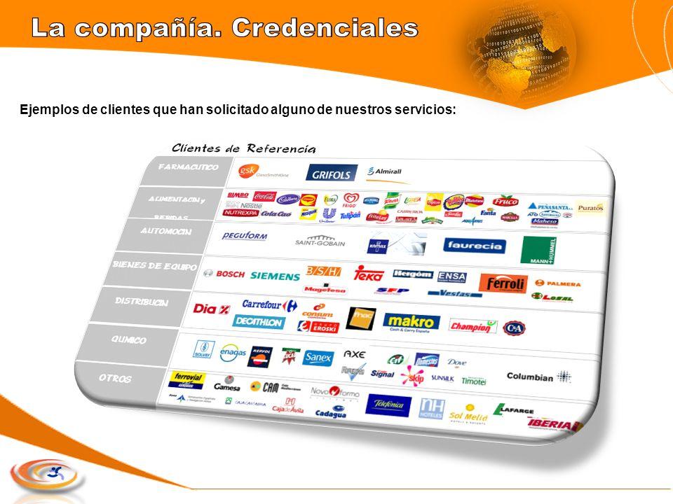 Ejemplos de clientes que han solicitado alguno de nuestros servicios: