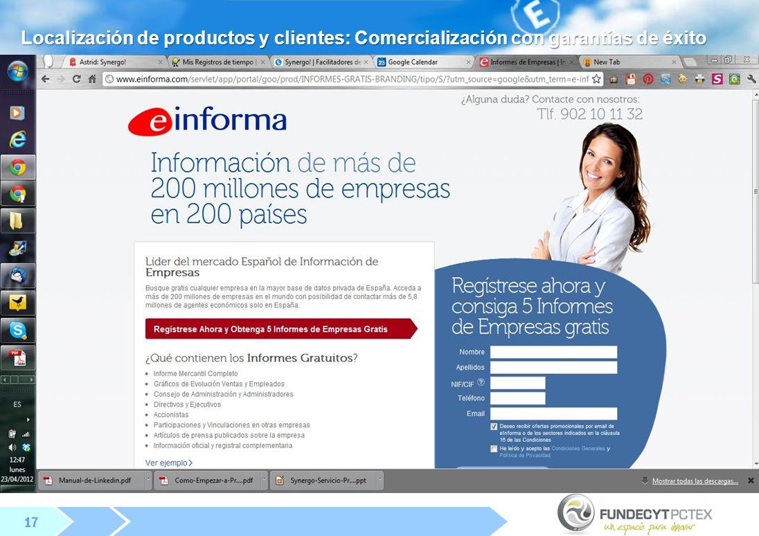 17 Localización de productos y clientes: Comercialización con garantías de éxito