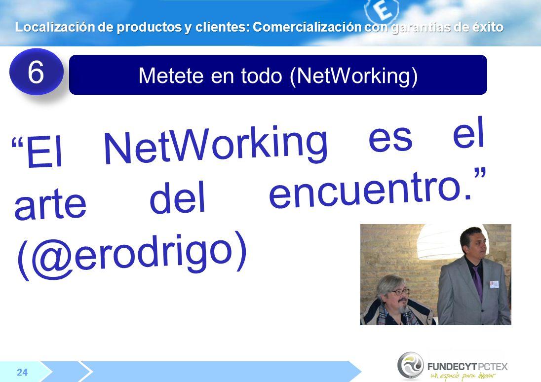 24 Metete en todo (NetWorking) El NetWorking es el arte del encuentro.