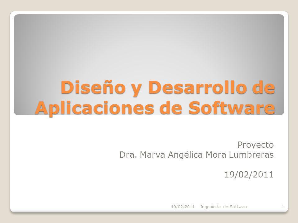 Diseño y Desarrollo de Aplicaciones de Software Proyecto Dra.