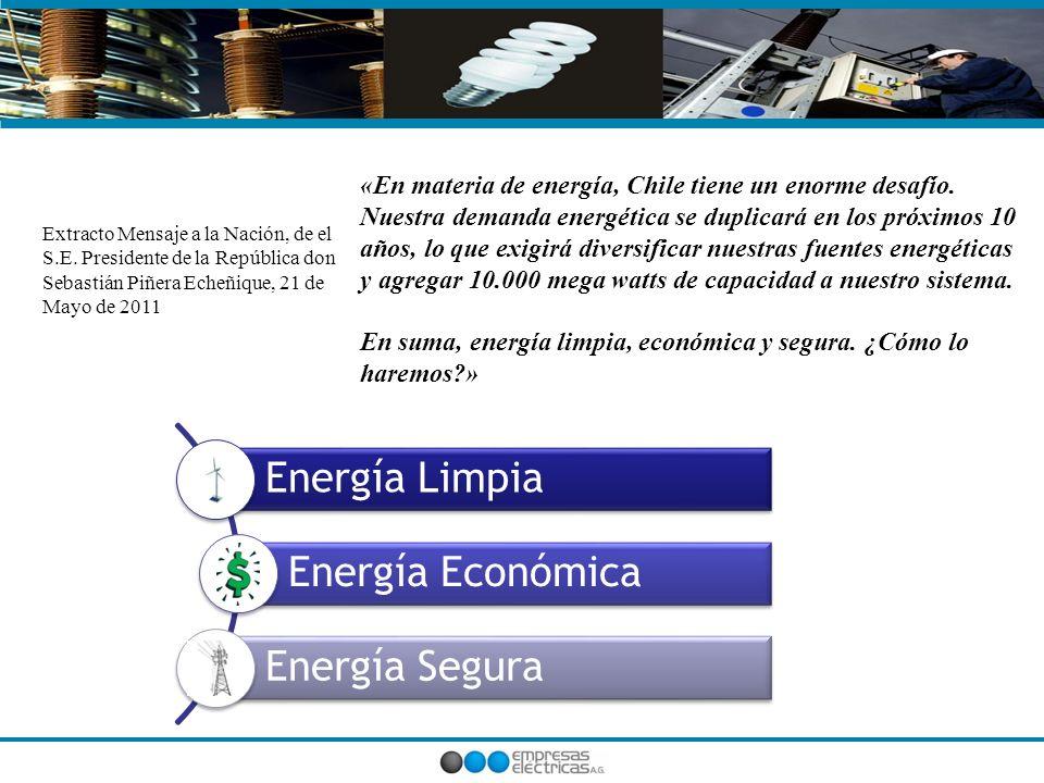 «En materia de energía, Chile tiene un enorme desafío.