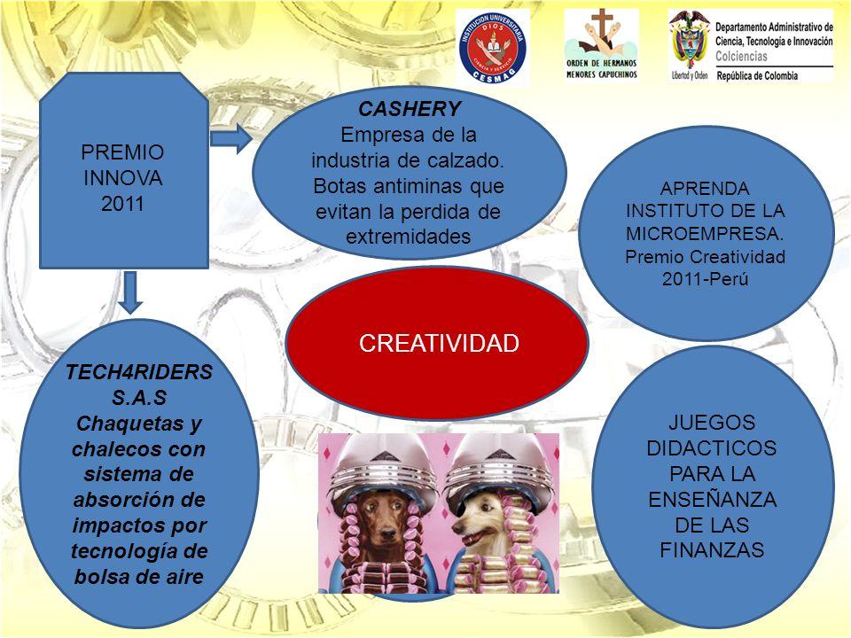 CREATIVIDAD APRENDA INSTITUTO DE LA MICROEMPRESA. Premio Creatividad 2011-Perú JUEGOS DIDACTICOS PARA LA ENSEÑANZA DE LAS FINANZAS CASHERY Empresa de