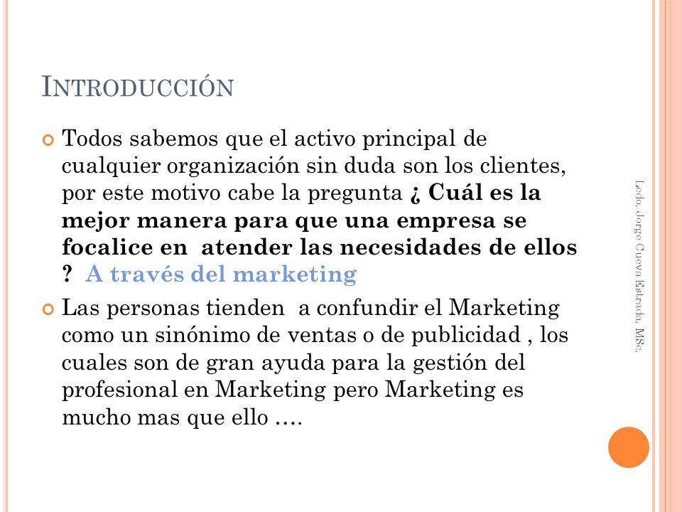 BASICAMENTE Marketing es cumplir lo que se promete.