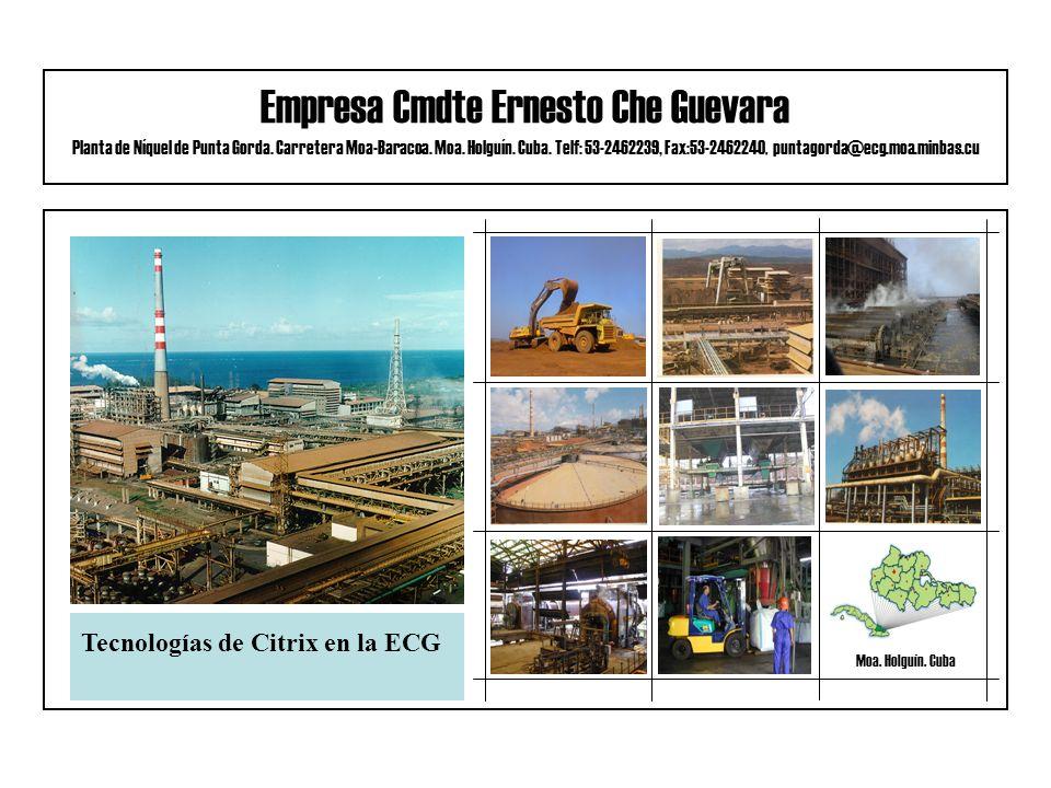 Empresa Cmdte Ernesto Che Guevara Planta de Níquel de Punta Gorda.
