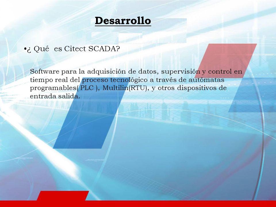 ¿ Qué es Citect SCADA.