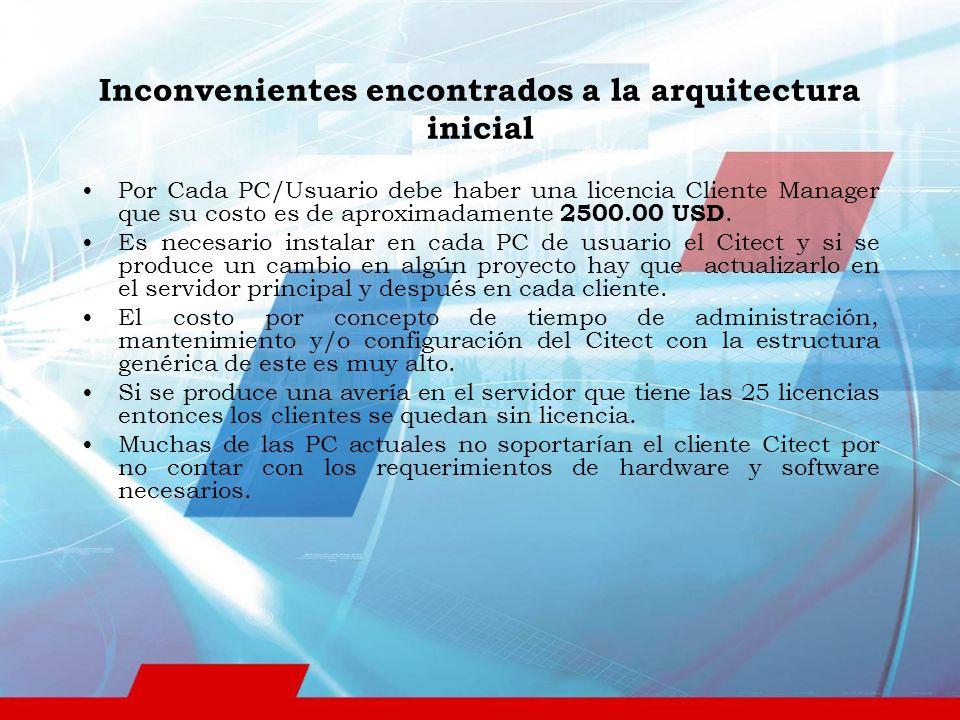 Por Cada PC/Usuario debe haber una licencia Cliente Manager que su costo es de aproximadamente 2500.00 USD.