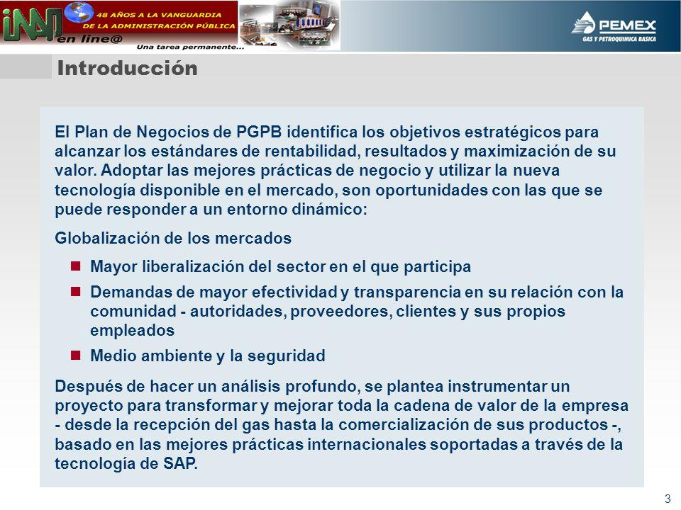 3 El Plan de Negocios de PGPB identifica los objetivos estratégicos para alcanzar los estándares de rentabilidad, resultados y maximización de su valor.