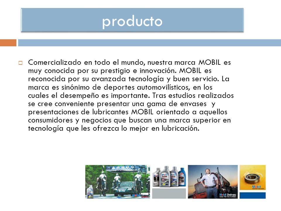 Comercializado en todo el mundo, nuestra marca MOBIL es muy conocida por su prestigio e innovación.