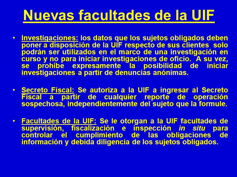 Nuevas facultades de la UIF Investigaciones: los datos que los sujetos obligados deben poner a disposición de la UIF respecto de sus clientes solo pod
