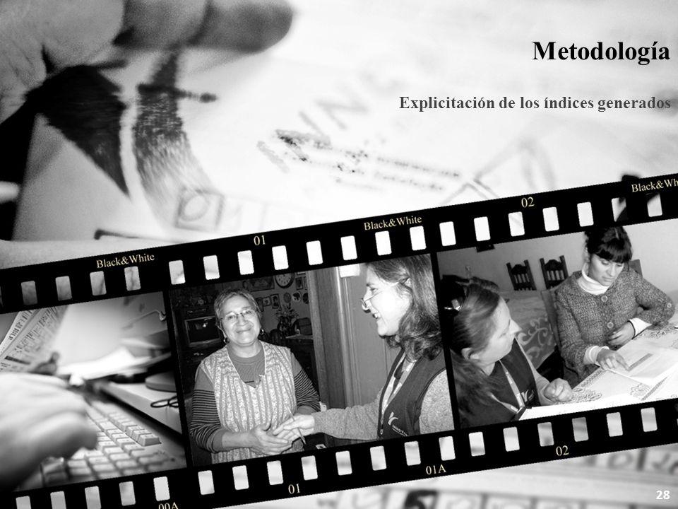 Metodología Explicitación de los índices generados 28