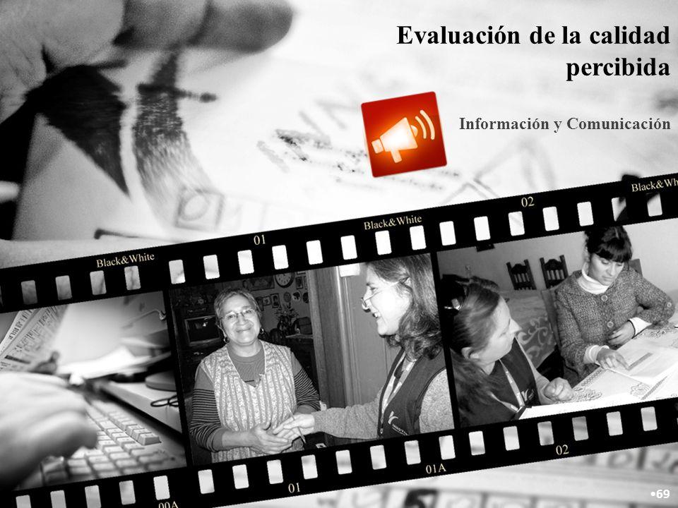 Evaluación de la calidad percibida Información y Comunicación 69