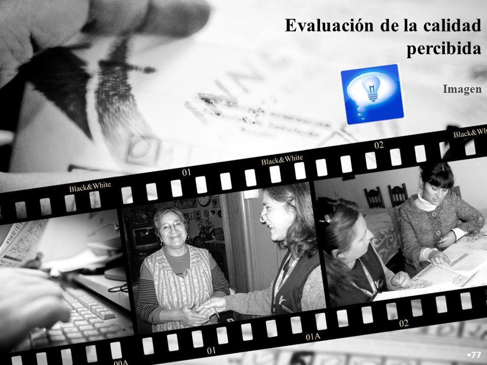 Evaluación de la calidad percibida Imagen 77