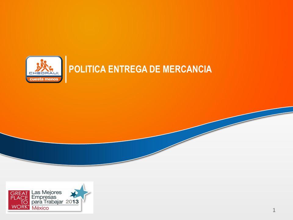 1 POLITICA ENTREGA DE MERCANCIA