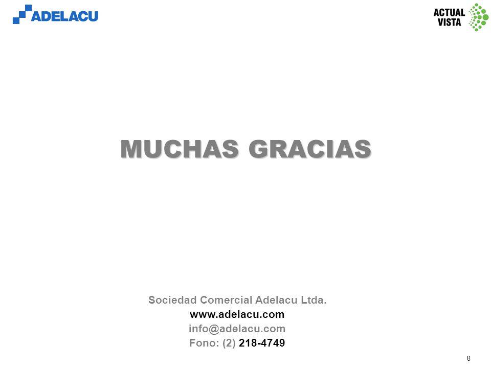 www.adelacu.com 8 MUCHAS GRACIAS Sociedad Comercial Adelacu Ltda.