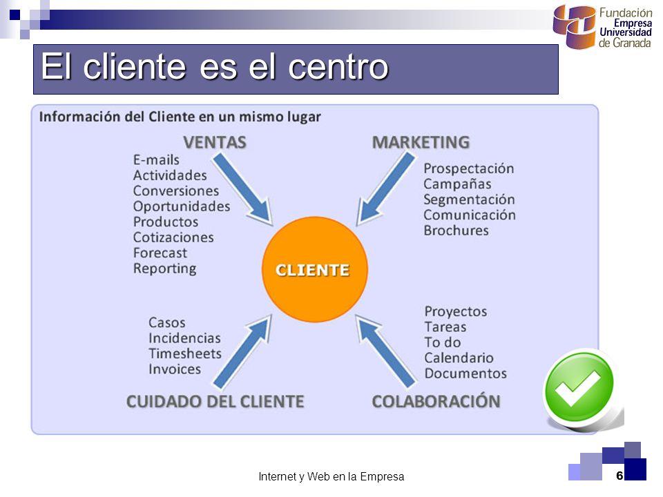 Internet y Web en la Empresa6 El cliente es el centro