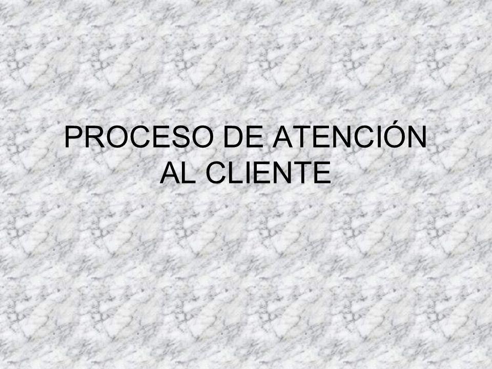 PROCESO DE ATENCIÓN AL CLIENTE