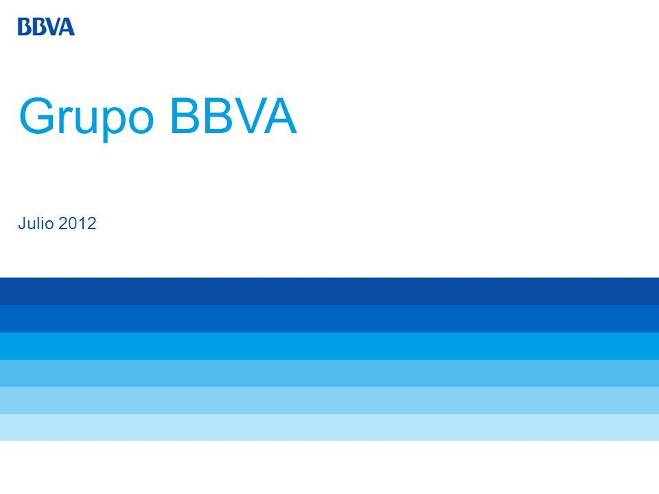 2 Grupo BBVA El Grupo BBVA ofrece a sus clientes de todo el mundo un amplio abanico de servicios financieros, como banca comercial y mayorista, servicios de banca minorista, préstamos al consumo, hipotecas, tarjetas de crédito, intermediación de títulos valores, gestión de patrimonio, gestión de planes de pensiones y seguros.