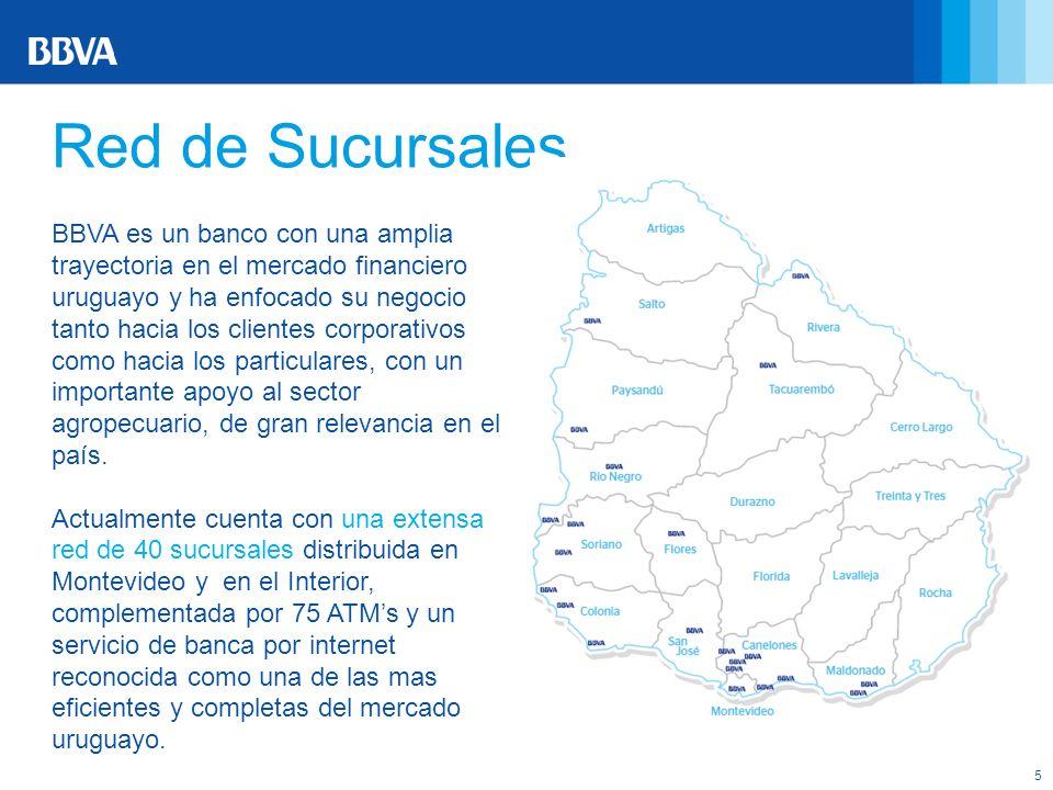 5 BBVA es un banco con una amplia trayectoria en el mercado financiero uruguayo y ha enfocado su negocio tanto hacia los clientes corporativos como ha
