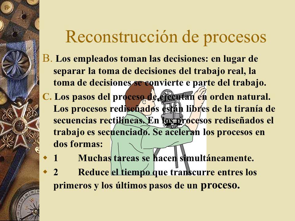 Reconstrucción de procesos B.