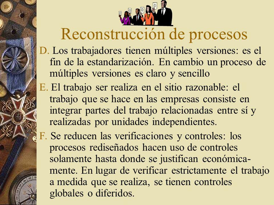 Reconstrucción de procesos D.