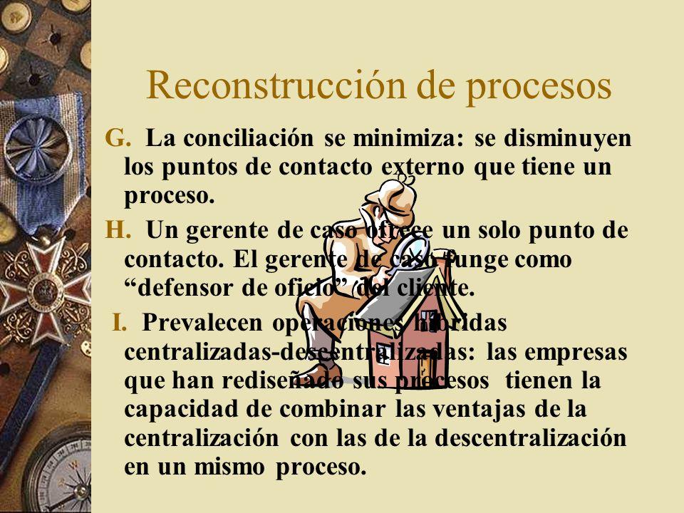 Reconstrucción de procesos G.