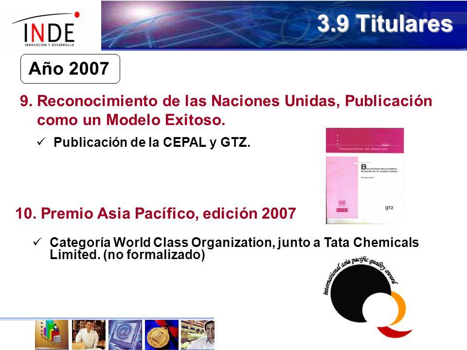 3.9 Titulares Año 2007 9.