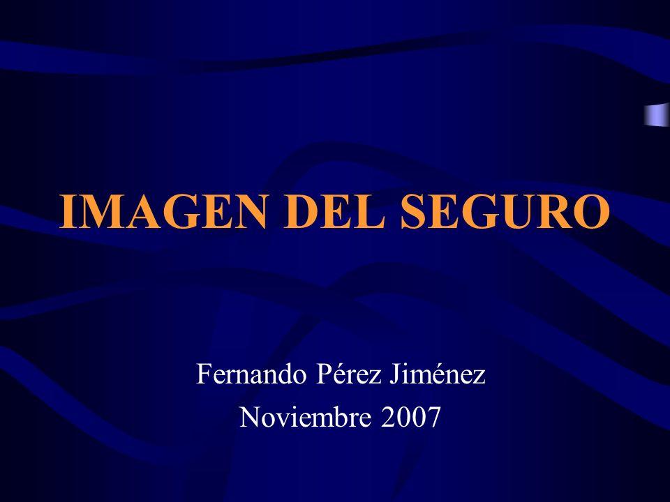 IMAGEN DEL SEGURO Fernando Pérez Jiménez Noviembre 2007