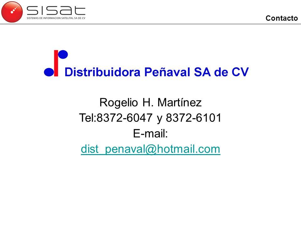 Contacto Rogelio H. Martínez Tel:8372-6047 y 8372-6101 E-mail: dist_penaval@hotmail.com
