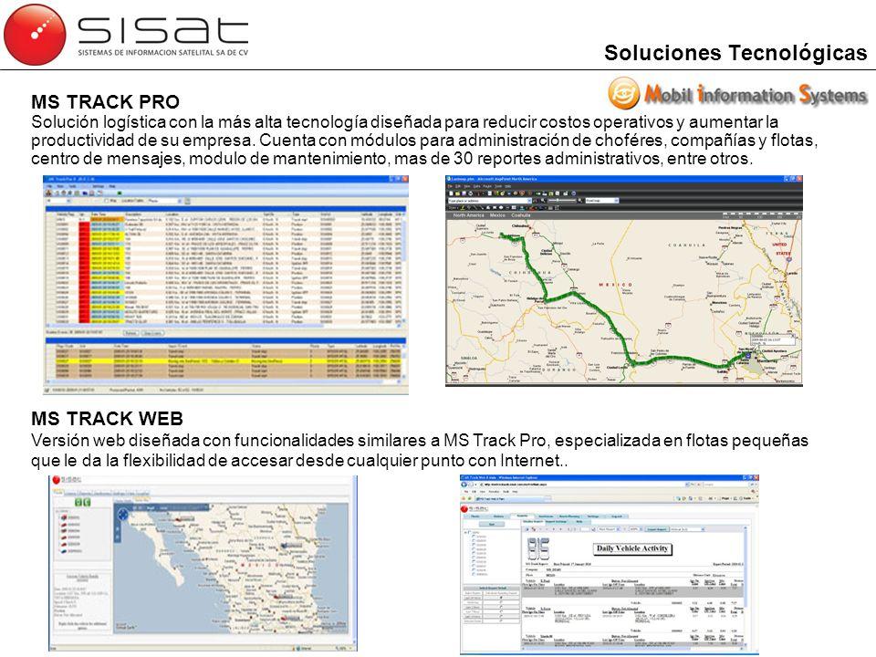 Soluciones Tecnológicas MS TRACK PRO Solución logística con la más alta tecnología diseñada para reducir costos operativos y aumentar la productividad