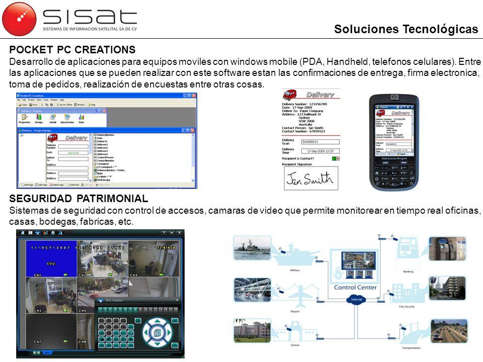 Pocket PC Creations Desarrollo de aplicaciones para equipo móvil como PDAs y Smartphones.