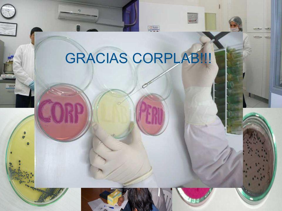INICIOS LABORATORIO MICROBIOLOGÍA 2006 LABORATORIO MICROBIOLOGIA 2007 - 2010 (I) GRACIAS CORPLAB!!!