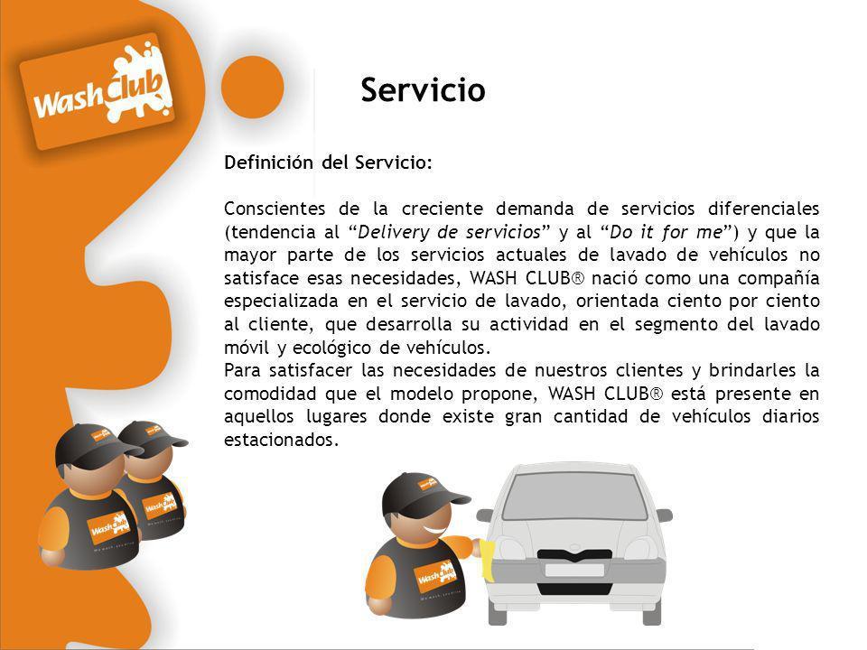 Servicio Definición del Servicio: Conscientes de la creciente demanda de servicios diferenciales (tendencia al Delivery de servicios y al Do it for me