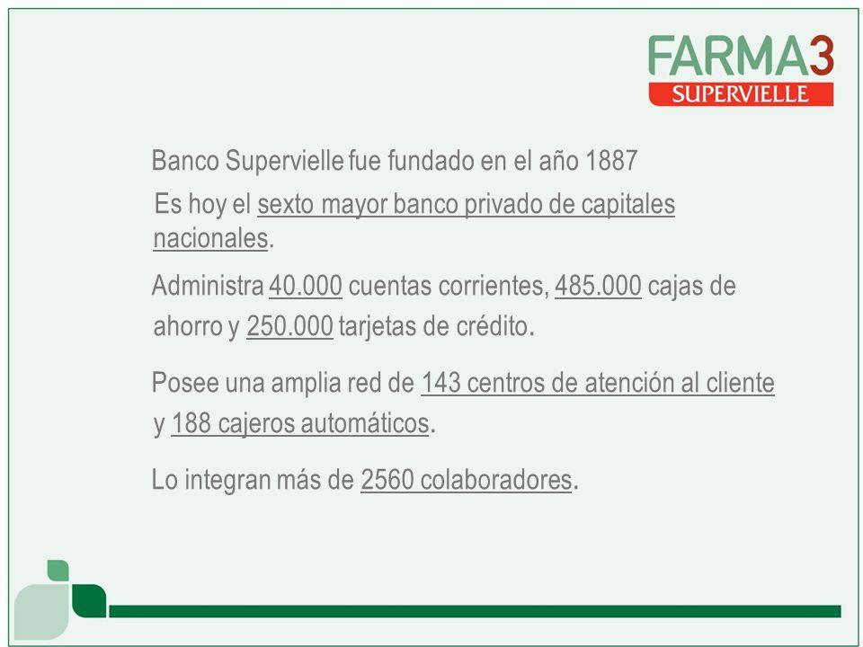 Banco Supervielle fue fundado en el año 1887 Es hoy el sexto mayor banco privado de capitales nacionales.