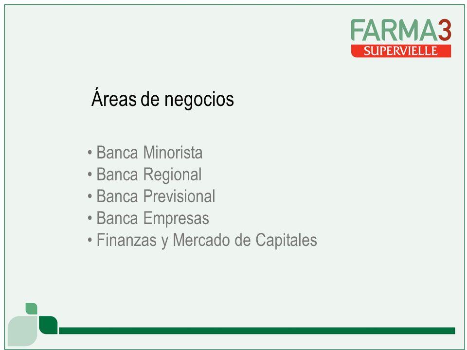Banca Minorista Banca Regional Banca Previsional Banca Empresas Finanzas y Mercado de Capitales Áreas de negocios
