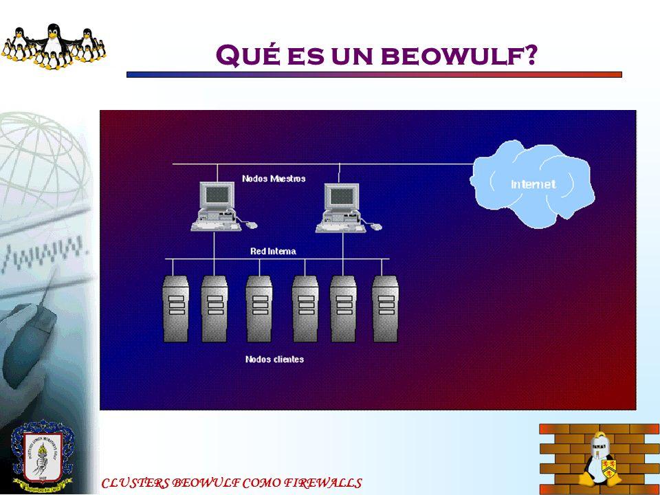 CLUSTERS BEOWULF COMO FIREWALLS Qué es un beowulf.