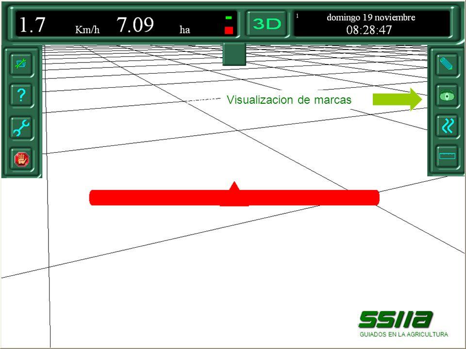 Botón para visualizar marcas GUIADOS EN LA AGRICULTURA Visualizacion de marcas
