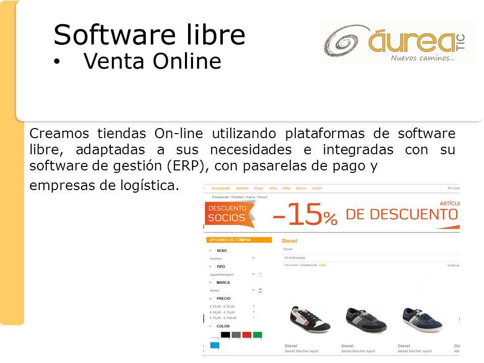 Creamos tiendas On-line utilizando plataformas de software libre, adaptadas a sus necesidades e integradas con su software de gestión (ERP), con pasar