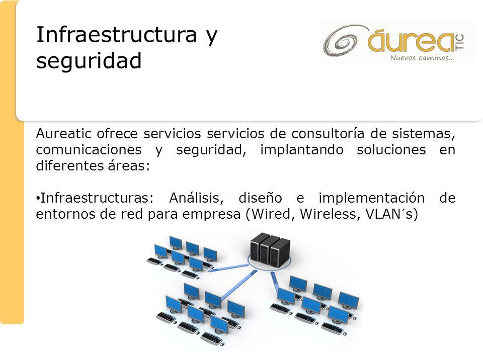 Infraestructura y seguridad Aureatic ofrece servicios servicios de consultoría de sistemas, comunicaciones y seguridad, implantando soluciones en dife